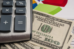 Money and calculator Royalty Free Stock Image