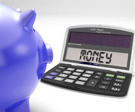 Money Calculator Shows Cash Savings And Wealth Royalty Free Stock Photography