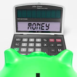 Money Calculator Shows Prosperity Revenue And Cash Royalty Free Stock Photos