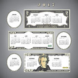 2017 money calendar. Ideal for any business Vector Illustration