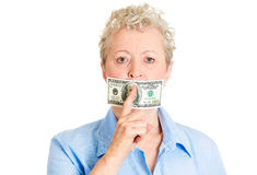 Money can shut people up Royalty Free Stock Image