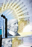 Money of Canada. Fan from denominations of the Canadian money Stock Photography