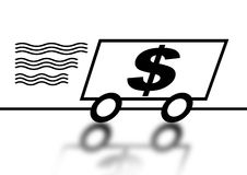 Money Car. An image showing a fast cash/money illustration Royalty Free Stock Image
