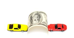 Money and car Royalty Free Stock Photography