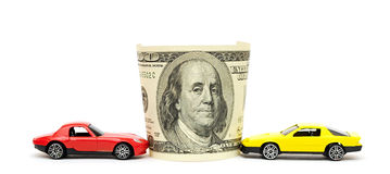 Money and car Royalty Free Stock Image