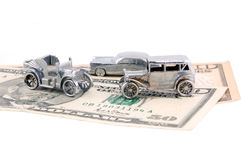 Money for car Stock Photos