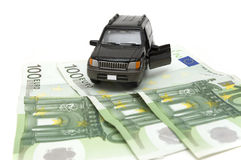 Money and car Royalty Free Stock Photo
