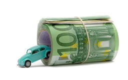 Money & car Royalty Free Stock Images