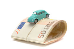 Money & car Royalty Free Stock Photography