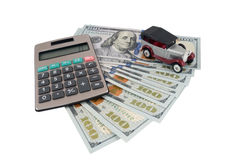 Money for car Royalty Free Stock Images