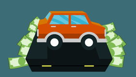 Money for car - bag Stock Photography