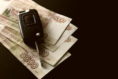 Money car key gift Royalty Free Stock Photo