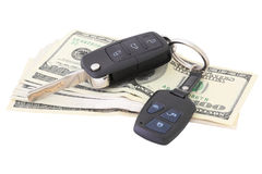 Money and car keys Stock Photography