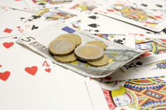 Money and cards Stock Image