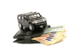 Money&cars Royalty Free Stock Images