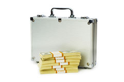 Money in the case isolated Stock Image