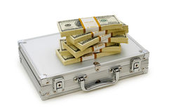 Money in the case isolated Royalty Free Stock Photography