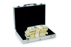 Money in the case isolated Royalty Free Stock Image