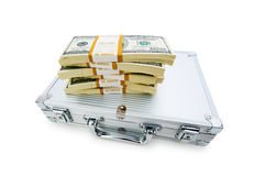 Money in the case isolated Royalty Free Stock Images
