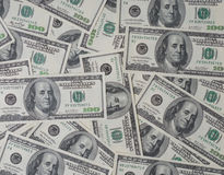 Money, cash. Many us dollar bank notes Stock Image