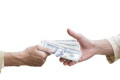 Money cash background. Human hands exchanging money closeup shot royalty free stock images