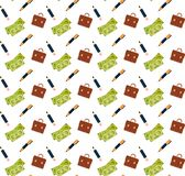 Money cash banknotes briefcase pencil icon financial business concept seamless pattern flat royalty free stock images