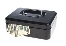 Money in cash box Stock Photography