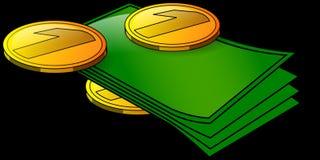 Money, Cash, Dollars, Pennies Royalty Free Stock Image