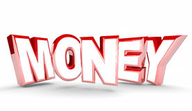 Money Cash Earning Inome Profit Word. 3d Illustration Stock Photography