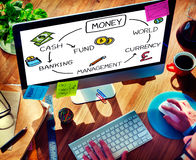 Money Cash Financial Currency Banking Concept Stock Photography
