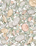 Money Cash Jackpot Raining Royalty Free Stock Photo