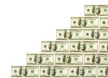 Money cash ladder Royalty Free Stock Photos