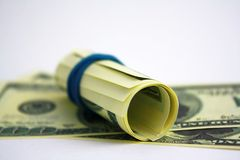 Money cash roll Royalty Free Stock Photos