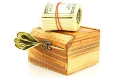 Money in the casket Stock Photography