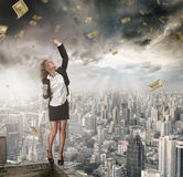 Money catcher Royalty Free Stock Images