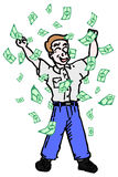 Money catoon stock illustration