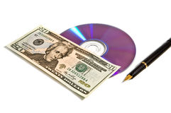 Money and CD Stock Image