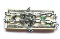 Money in chain Royalty Free Stock Photos