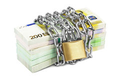 Money and chain Royalty Free Stock Photos
