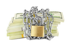 Money and chain Royalty Free Stock Photo