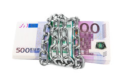 Money and chain Royalty Free Stock Image