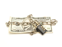 Money chained Stock Photography