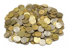 Money , change , penny, pile of cents Stock Photos