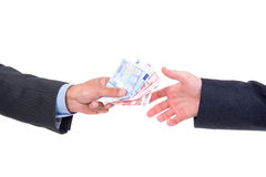 Money changing hands Royalty Free Stock Image