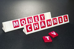Money channel television Stock Images