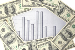 Money with chart Stock Image