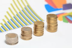 Money chart Royalty Free Stock Images