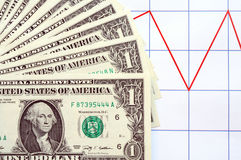 Money And Chart Stock Photo