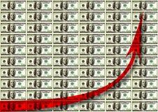 Money chart Royalty Free Stock Photos