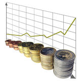 Money chart Royalty Free Stock Photos